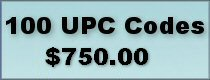 Click to buy 100 UPC bar codes