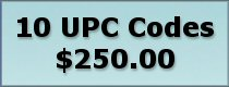 Click to buy 10 UPC bar codes